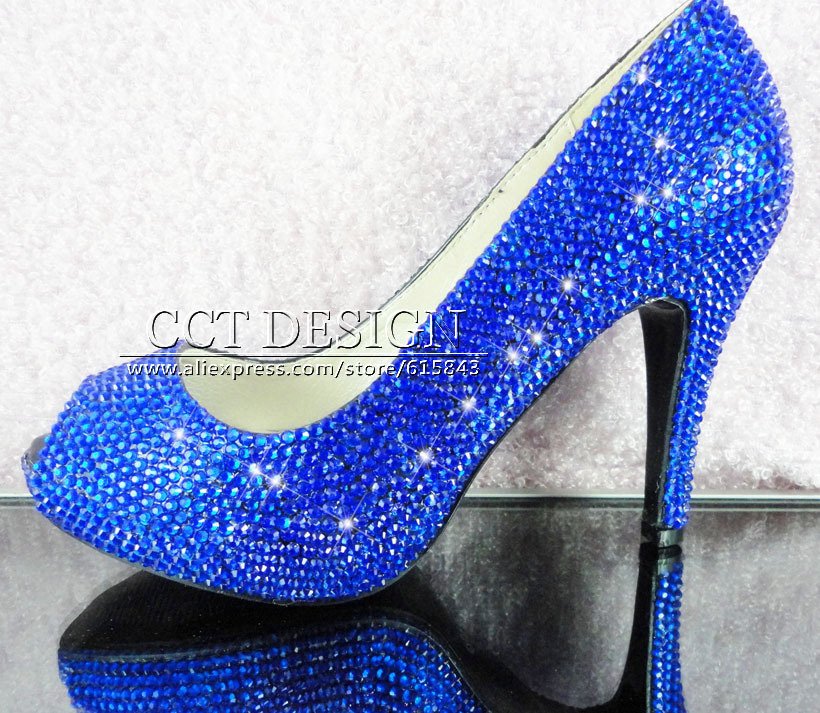 Popular Blue Wedding Shoes Low Heel-Buy Cheap Blue Wedding Shoes ...