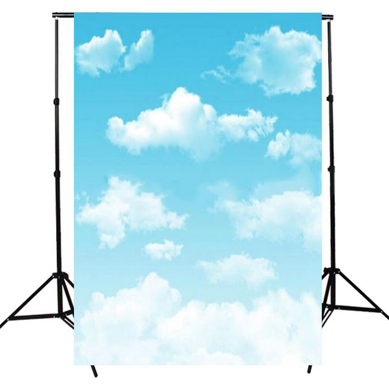 Mayitr 3x5ft Blue Sky Photo Backdrop Props Beautiful White Cloud Studio Photography Background For Photography Party Rich Scene send rolled sunny sky backdrop vintage white cloud blue sky printed fabric photography background f0150