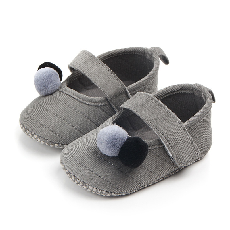 Baby Girls Shoes First Walkers Infant Toddler Shoes Flock Lovely Soft Sole Anti-slip Baby Shoes