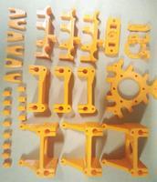 Swmaker rostock impressora de plástico impresso peças kit delta peças de plástico conjunto para delta3d impressora acessórios|delta plastics|delta parts|3d printer parts delta -