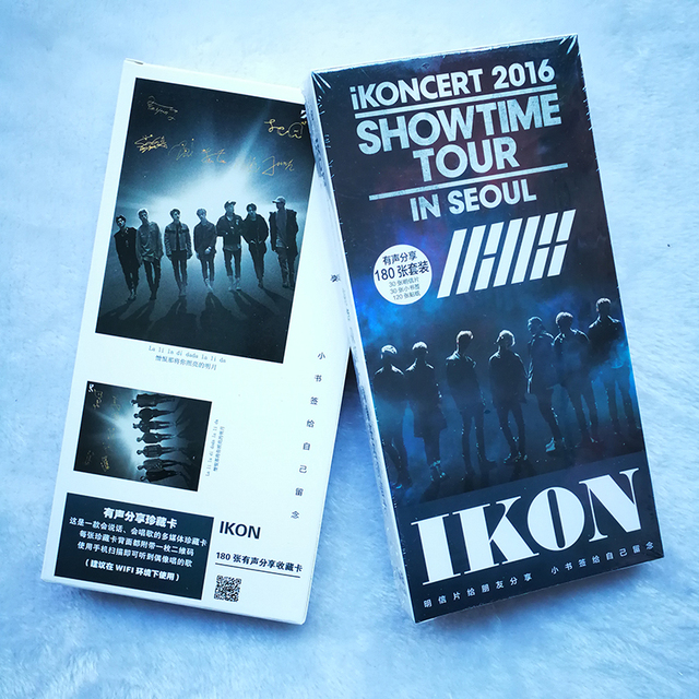 Youpop KPOP IKONCERT SHOWTIME IKON Album WELCOME BACK 30 Postcards 30 Small 120 Stickers K-POP Photo Cards Share Post Cards