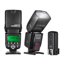 Andoer AD560 IV Universal 2.4G Wireless On-camera Slave Speedlite Flash Light GN50*2 + Trigger for Canon Nikon Sony DSLR Cameras(China)