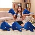 40/50 см оптовая 1 шт. Симпатичные blue fish плюшевые игрушки подушки Подушки Мультфильм Китов ткань кукла плюша детские подарок на день рождения