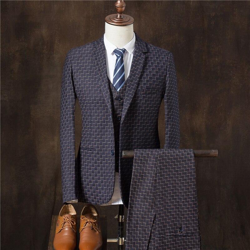 Luxe veste Gilet pourpre Homme Maigre Costumes Pantalon bleu Robe Bal Mariage De D'affaires Offre bourgogne Marié Hommes Bleu Noir 2019 Mode marine Costume Spéciale Vêtements Occasionnels BryawAr5qc
