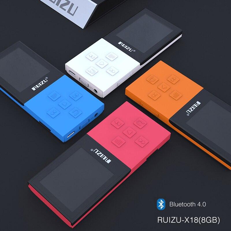 RUIZU X18 Original 8G Sport mini lecteur MP3 Bluetooth 4.0 2018 sans perte enregistreur FM Radio lecteur de musique Support 64G TF carte