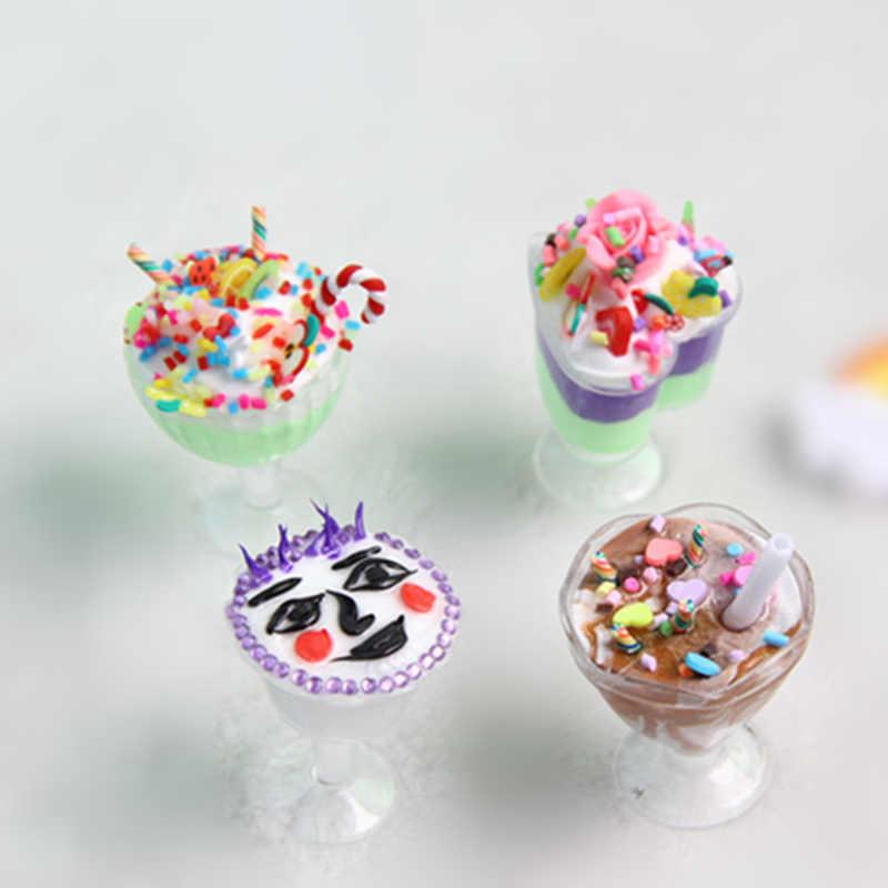 6 sztuk 1/6 skala Dollhouse miniaturowe kubki na napoje zestaw Model udawaj zagraj w Mini Food Doll akcesoria Fit Toy TY0256