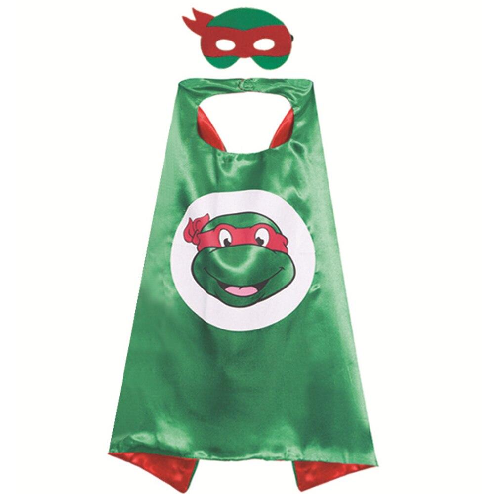 Girls Superhero Ninja Pattern Sleeveless Casual Party Dress Teenage Turtles Cosplay Halloween Tutu Dress Girls Custome Dresses (7)