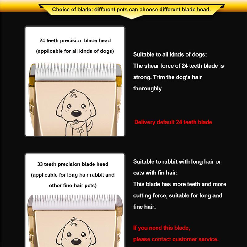 Recortadora eléctrica de bajo ruido para mascotas 7