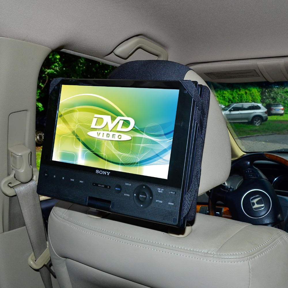 Tfy car headrest mount holder for sony bdpsx910 9 inch portable blue ray player and other 9 inch swivel flip style dvd players