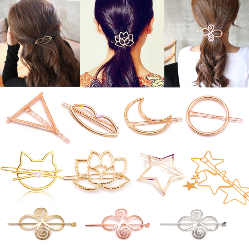Fashion Hair Clips For Women Girls Metal Hair Barrettes Hairpins Accessories Hairclips Hairgrips Headdress Hair Ornaments Tiara