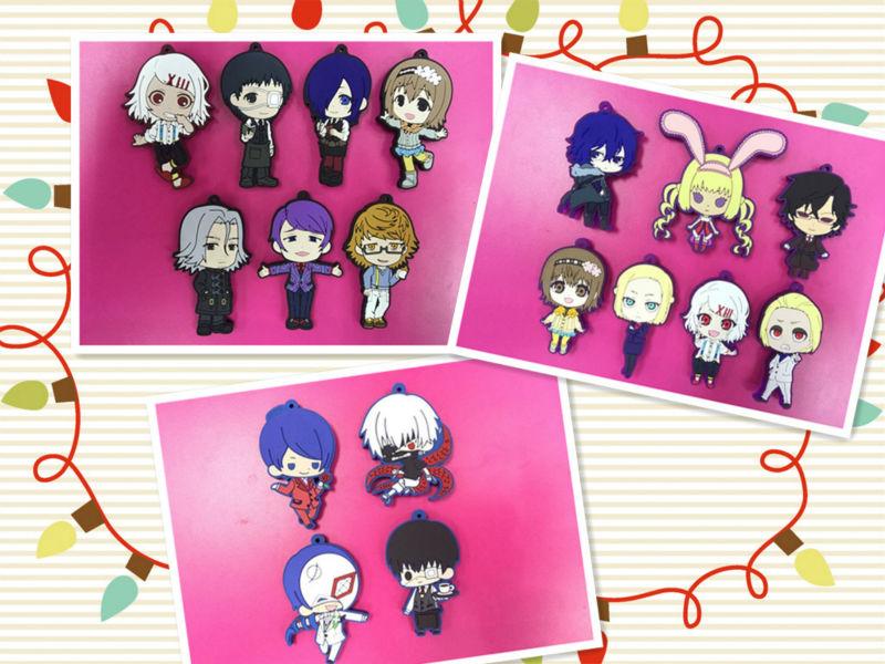 Anime Tokyo Ghoul pendants set Kaneki ken Kirishima Touka JUZO SUZUYA / REI Fueguchi Hinami keychains phone straps free shipping цена 2016