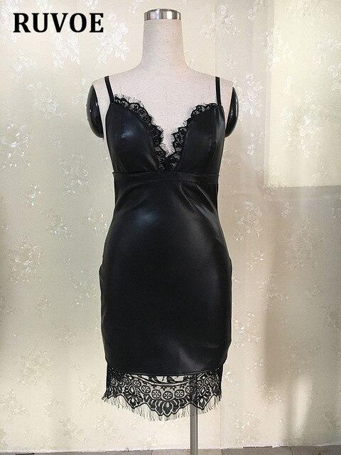 2017 neue enganliegenden sexy Spitze Kleid schlanke Schwarze ...