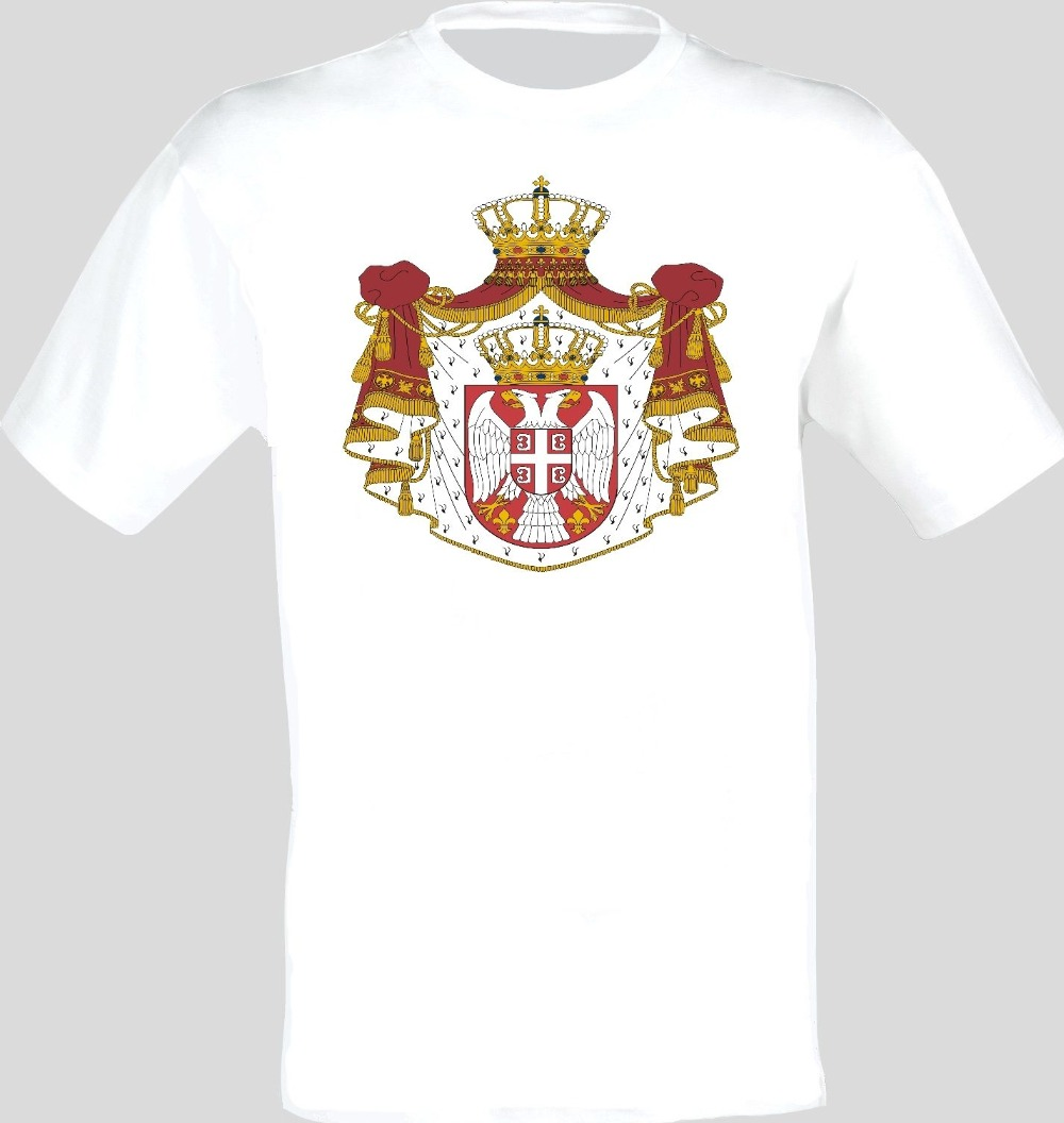 Coat Of Arms Of The Serbia Serbian Arms Flag T-Shirt All Sizes 2019 Fashion Brand Men's Tops StreetWear T-shirt Solid Color