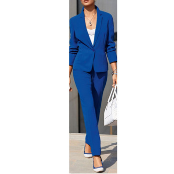 formal ladies suits Royal Blue Women Ladies Formal Business Office Tuxedos Jacket+Pants Work Suits