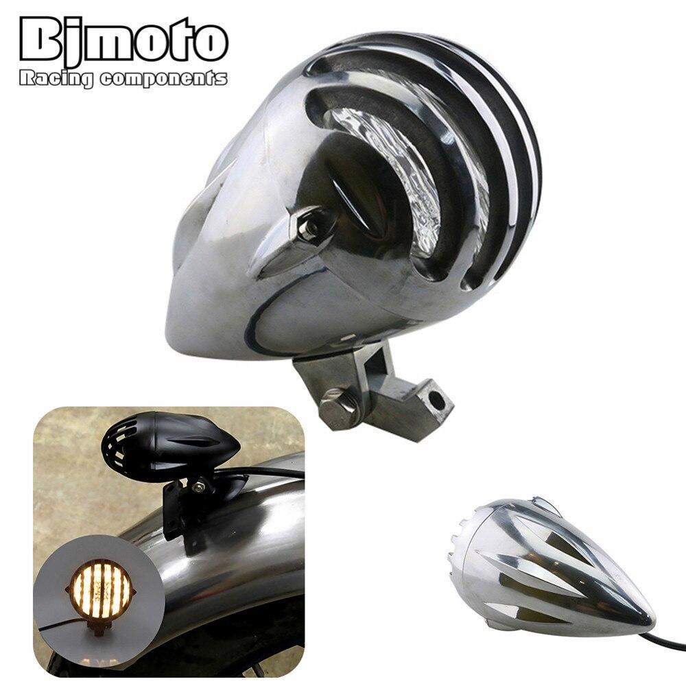 Здесь продается  BJMOTO 12 V Motorcycle High/Low Beam Headlight Motocross Bullet H4 Halogen Retro Headlight lamp For Harley Touring Softail DYNA  Автомобили и Мотоциклы