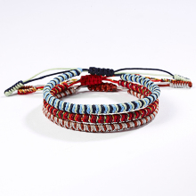 Kpop Bracelets Bangles Femme Simple Mixed Rope Hand-woven Ethnic Womens Wild Jewelry for Women