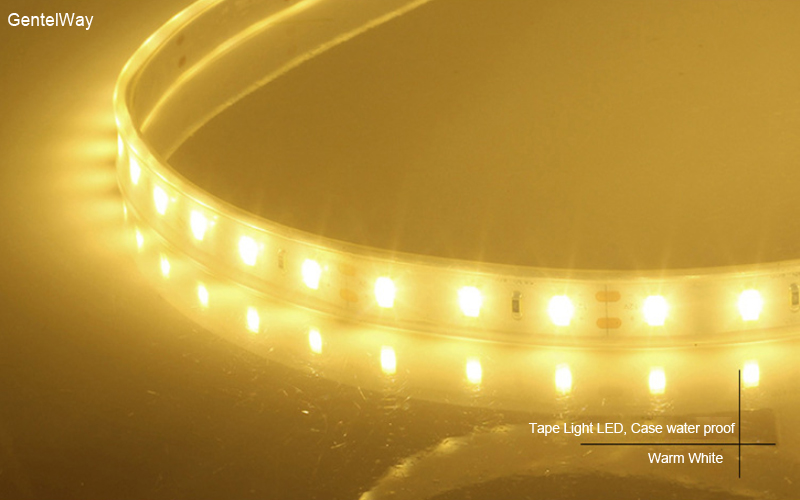 Fllexible Strip  led Light Case water proof-warm white