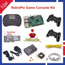 32GB RetroPie Game Kit with Raspberry Pi 3 Model B Wireless Controllers Gamepad Power Supply 5.1V 2.5A Charger Adapter