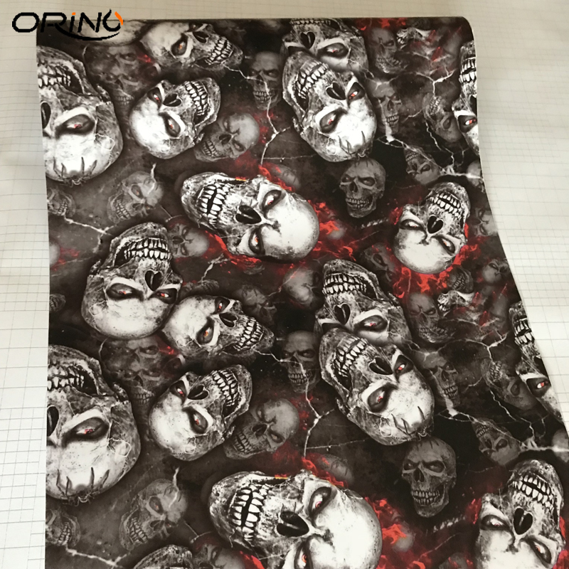 Skull Sticker Vinyl Film-4