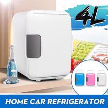 12 V-220 V 4L охлаждение, Отопление, холодильник для дома и автомобиля двойного назначения Холодильники Ультра тихий низкий уровень шума автомобиля мини-Холодильники Морозильник