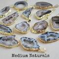 Hot!! Natural geode da ágata fatia Pingente, natural druzy ágata pingente de frete grátis (WT-P434)