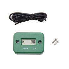 LCD Display Digital Hour Meter Tachometer Waterproof Inductive for Motorcycle ATV Snowmobile Marine Engine