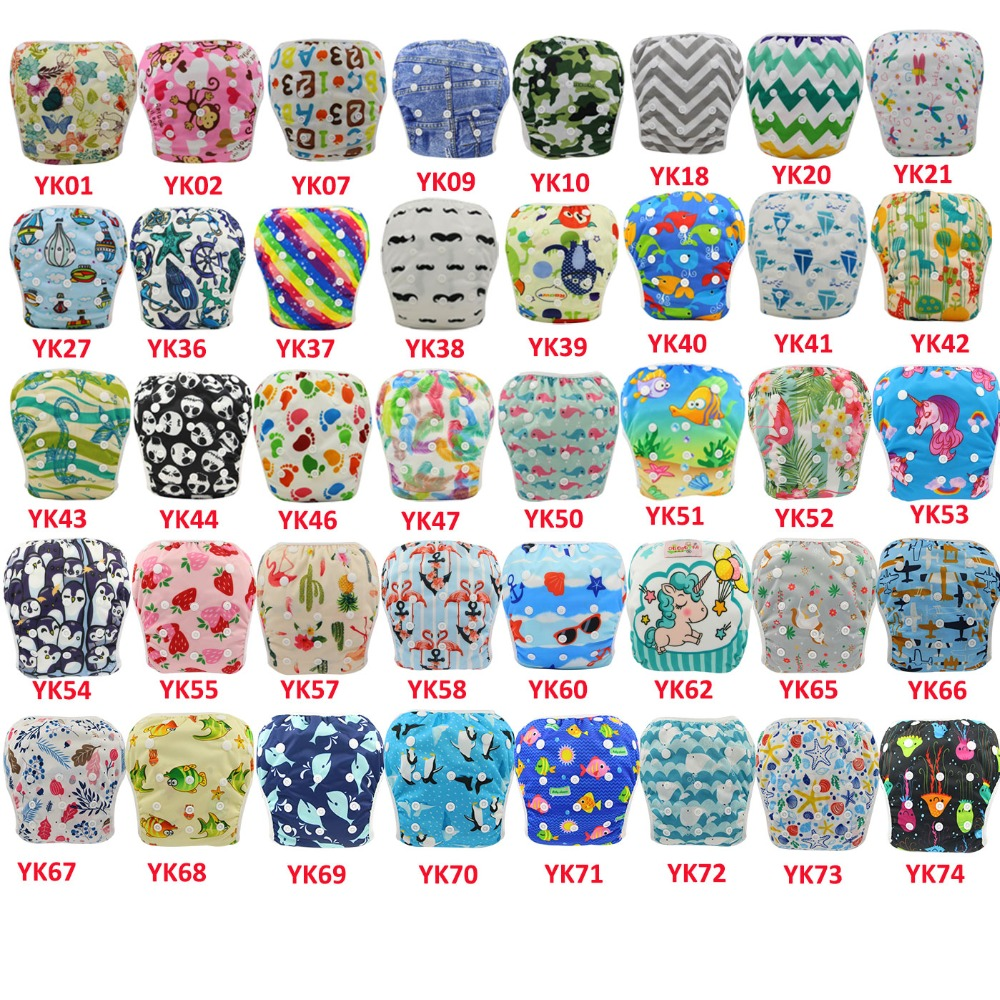 Ohbabyka 50pcs/lots Reusable Baby Swim Diaper Size Adjusted Pool Pant Unisex Boys Girls Swimming Diaper For Kids Summer Swimwear
