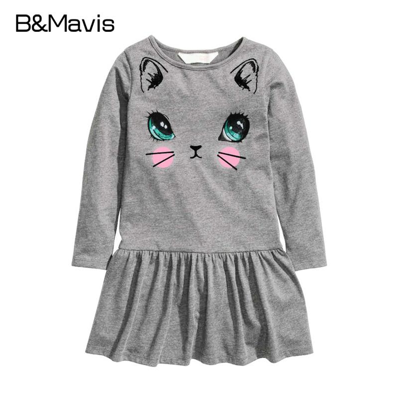 Casual Girls Clothes New Toddler Girl Dresses Cat