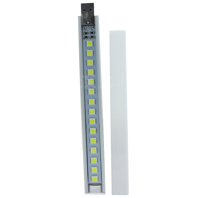 CSS Highlight 15LED dormitory computer table mobile power keyboard USB stick light night light with cover 3500-4300K