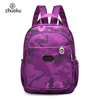 Small Mini Backpack Waterproof Nylon Oxford Cloth Double Shoulder Bag Cute School Bags Multifunction Chest Women