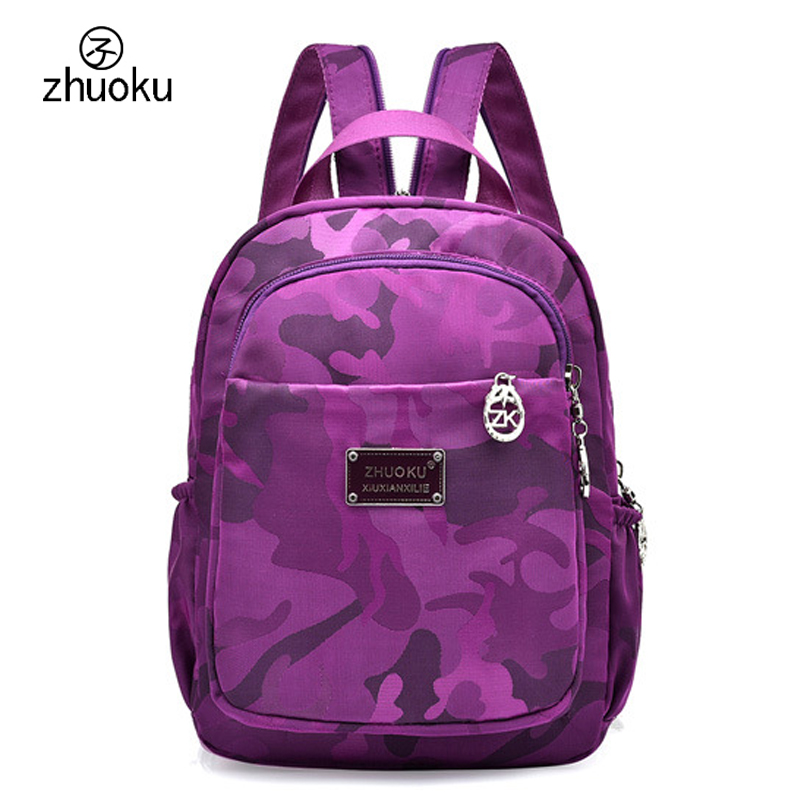 Small Mini Backpack Waterproof nylon Oxford cloth Double Shoulder bag Cute School bags M ...