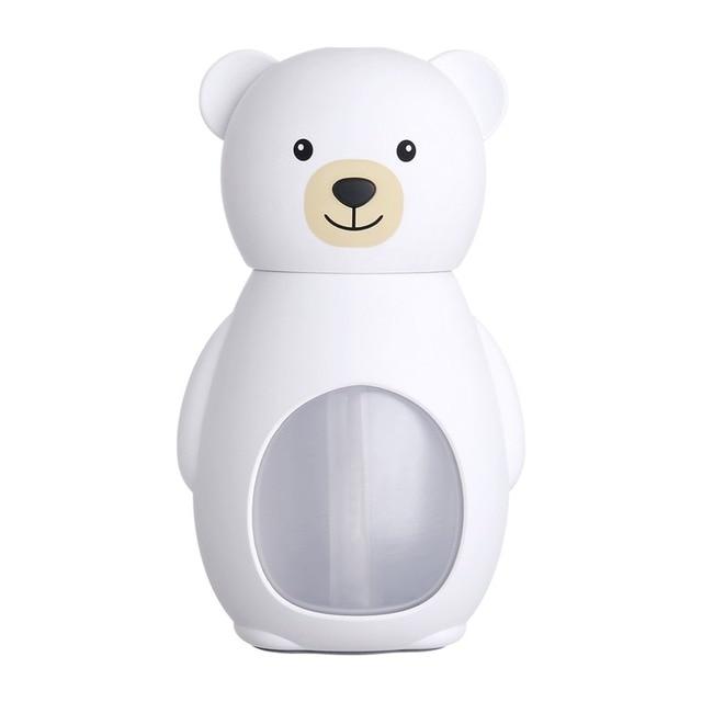 USB Lovely Bear Humidifier Night Lights Ultrasonic Car Air Humidifiers Mini Home Desktop Diffuser Air Purifier 160ml
