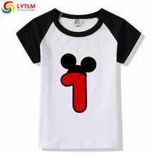 LYTLM My First Birthday Outfit Boy Little Boys T Shirts Summer Kids Short Sleeve