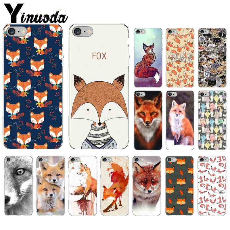Yinuoda Animal More Cute Fox cat Transparent TPU Soft Phone Cover for Apple iPhone 8 7 6 6S Plus X XS MAX 5 5S SE XR Cellphones