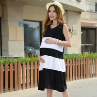 Moms Sleeveless Maternity clothing Striped Breastfeeding Dress Pregnancy Clothes for Pregnant Women Maternity Dress Vestdios