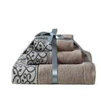 3PCS Set Cotton Bath Towels Luxury Bath Sheet Perfect For Home Bathrooms Pool And Gym Cotton