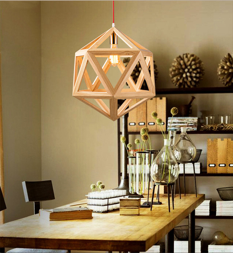 Japan Solid Wood Pendant Lamp Light for Dining Study Kitchen Island Living Room Office Home Decor hanging lighting