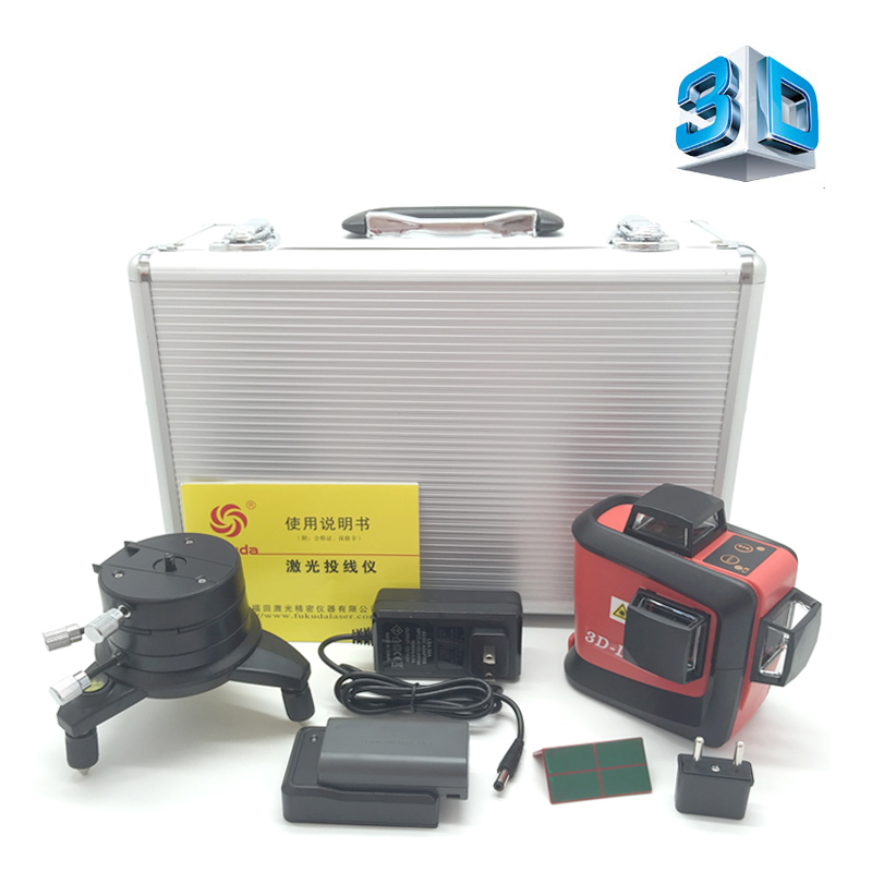Fukuda 12 lines MW-93T lithium battery green laser level 360 Vertical And Horizontal Self-leveling Cross Line 3D Laser Level high quality southern laser cast line instrument marking device 4lines ml313 the laser level