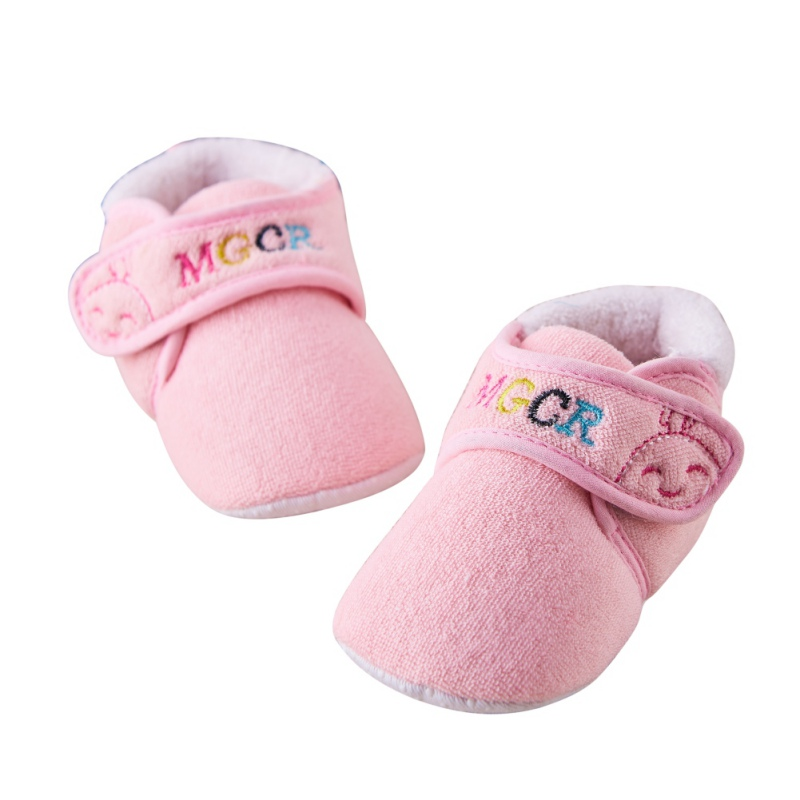 Cute Winter Warm Baby Boys Girls Shoes Cotton Newborn Infant Soft Warm First Walkers Toddlers Fleece