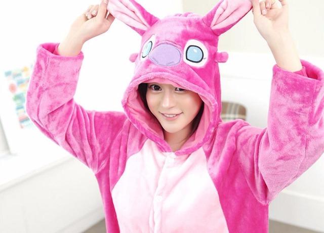Pyjamas Women stich Pajama Suit Animal Mens Onesie Adult Pajamas Flannel Cosplay Costume Pikachu Onesies For Adults Pijama