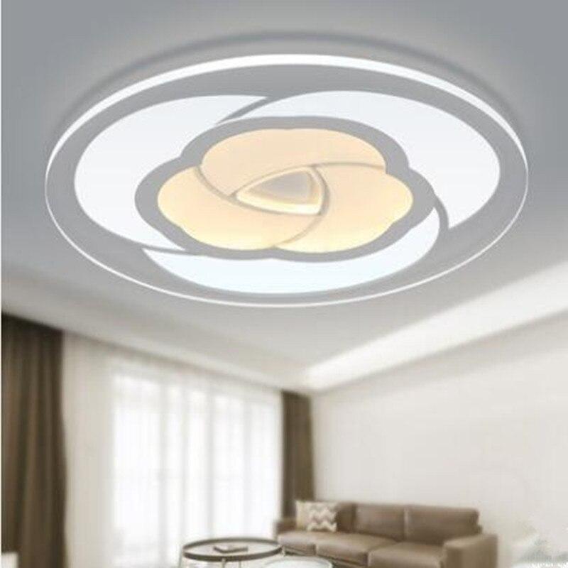 Modern Lights Ultra Thinceiling Led Lamp Iron Metal Acryli Flowersc Indoor Lighting Bedroom Living Kitchen