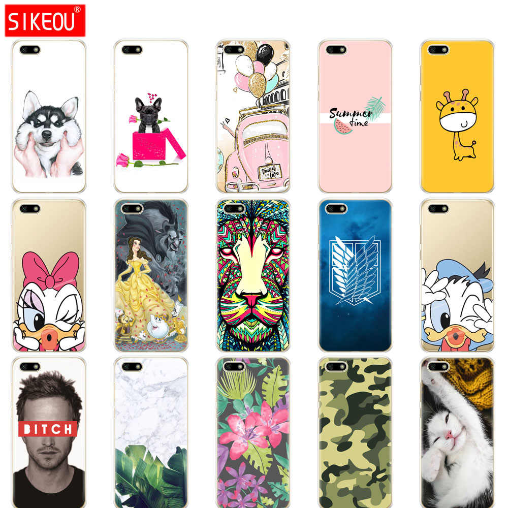 "Silicone phone Case For coque Honor 7A Case 5.45""inch Soft bumper Phone Case on huawei Honor 7A 7 A DUA L22 Russian version 5 45"
