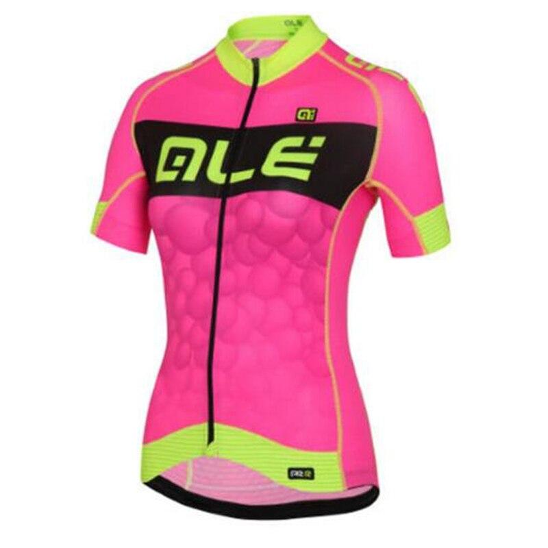 Prix pour Nouveau 2017 ale vélo jersey femmes à manches courtes respirant vélo de course maillot ropa ciclismo vtt montagne vélo clothing e0306