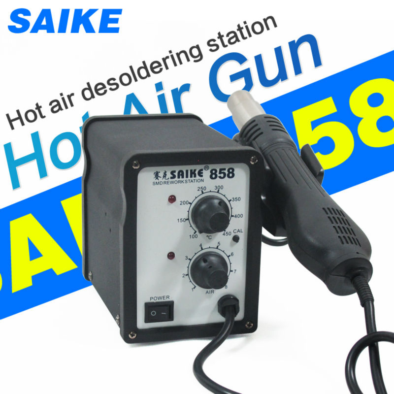 SAIKE 858 Hot air rework station Soldering Station Desoldering station 220V 700W soldering station saike 852d rework station soldering iron hot air rework station hot air gun 2in1 with holder and gift e