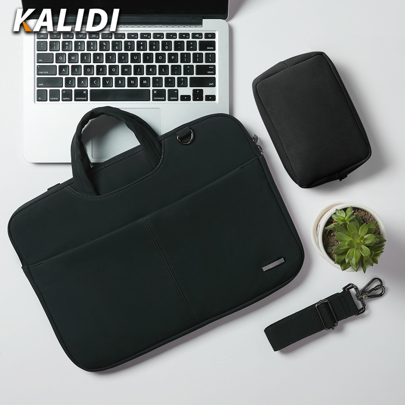 KALIDI Waterproof Laptop Bag 13.3 14 <font><b>15</b></font> <font><b>15</b></font>.6 Inch Notebook Bag Handbag For Macbook Air Pro 13 <font><b>15</b></font> Dell <font><b>Asus</b></font> HP Acer Bag Men Women image