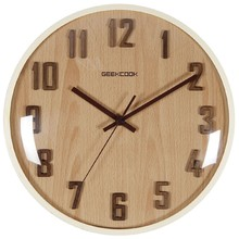 New 3D Wooden Wall Clock For Home Decoration Wooden 30cm Wall Watch For Living Room Large Wall Clock Modern Design Drop Shipping