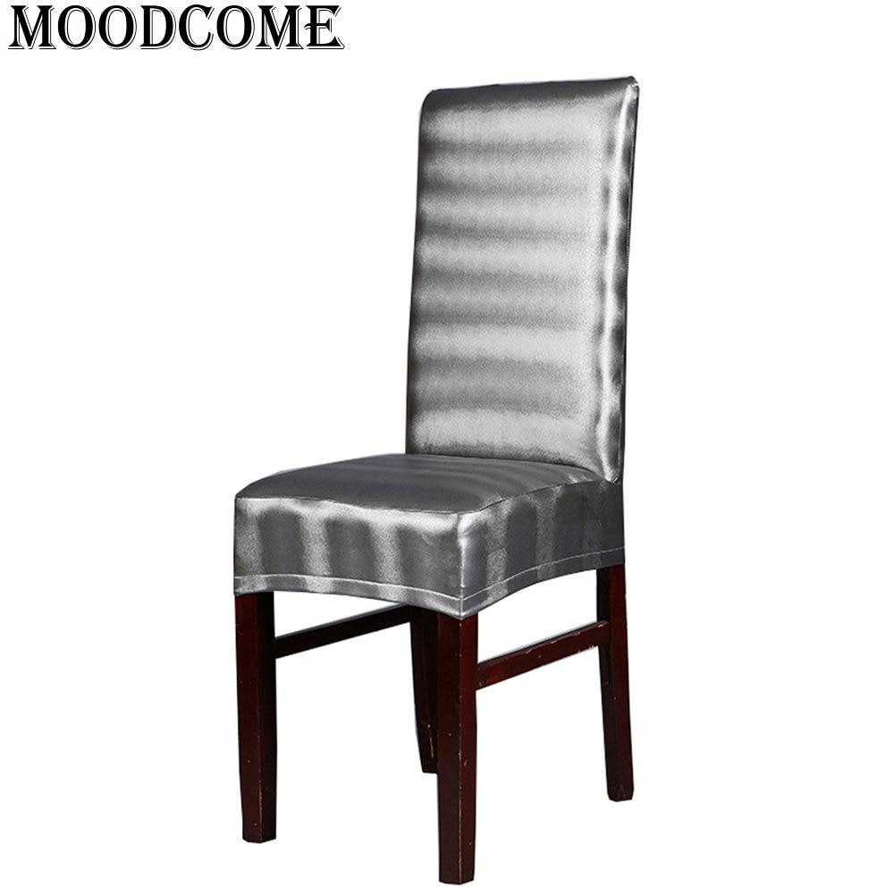 Lederen pu stoel cover Elastische stoelhoezen eetkamer nieuwe mode ...