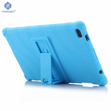 Soft Case For Lenovo Tab 4 8.0'' Silicone Stand Case For Lenovo Tab4 8 TB-8504F TB-8504N Tablet Case цена