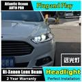 AUTO. PRO faróis para ford mondeo 2013-2015 DRL levou barra de luz Q5 bi xenon lente levou farol alto xenon H7 lâmpadas de cabeça Para mondeo
