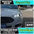 AUTO. PRO faros para ford mondeo 2013-2015 barra de luz led DRL Q5 bi xenón lente led H7 alta haz de xenón lámparas de cabeza Para mondeo